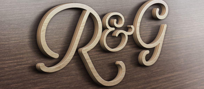 Online printing Wooden initials
