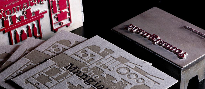 Online printing Letterpress Cards 2 colors