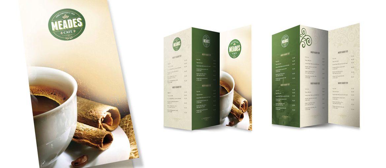 Online printing menu