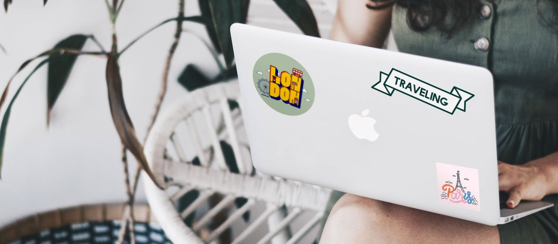 Stampa online sticker pvc logo