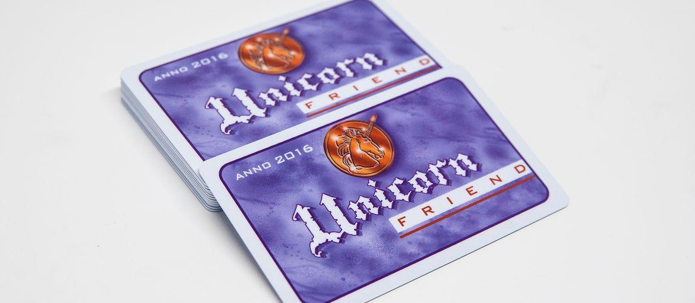 Stampa online card unicorn