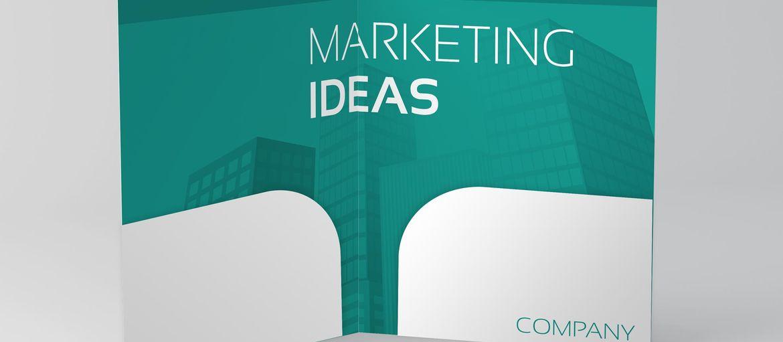 Cartellina con 2 tasche Marketing