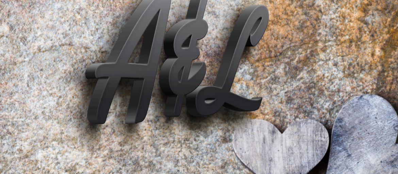 Online printing 3d initials